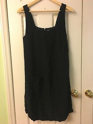 A Pea In The Pod Maternity Dress Sleeveless Pockets In Front Black Size small