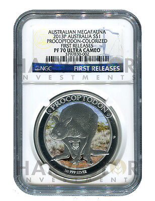 **new - Australian Megafuana - Coin #1 Procoptodon - Ngc  Pf70 First Releases