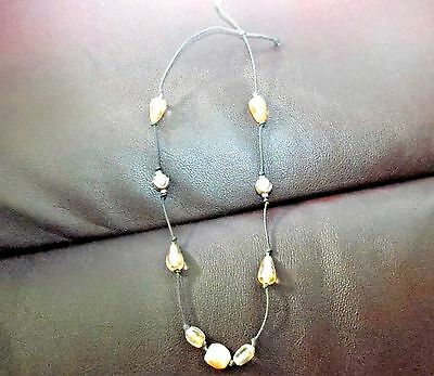 Hand Made Sterling Silver with Large Glass Beads and Unique Stone Headband