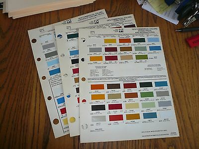 1978 Chevy GMC Ford Dodge Intern'l Commercial Ditzler PPG Paint Chips