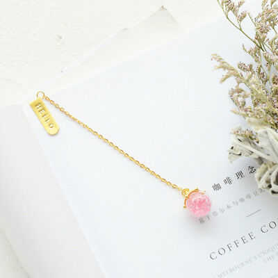 Metal Crystal Creative Bookmark Book Chain Markers Gift Bookmark Gold