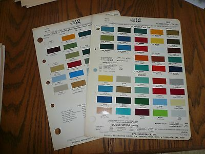 1970 Ford Chevy GMC Dodge Commercial Ditzler PPG Paint Chips