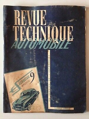 Revue Technique Automobile Simca 9 Aronde // Ed. Mai 1953