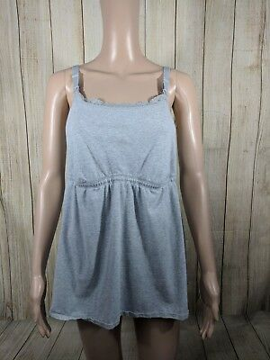 Loving Moments Womens Size XLarge Grey Nursing Breastfeeding Loose Cami Tank Top
