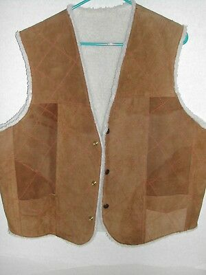 1970s Vintage Altman of Dallas Suede Leather Vest Stoner Hippie Biker Cowboy