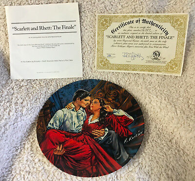 """VTG 1986 Scarlett and Rhett: """"The Finale"""" Gone With the Wind Plate COA No 19698C"""