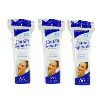 Coralite Cotton Squares Pads 240 ct. Cosmetic Face Eye Nail Makeup Remover Baby