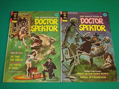 The Occult Files of Doctor Spektor #2 & #7 (1973) VG+ 4.5 Gold Key