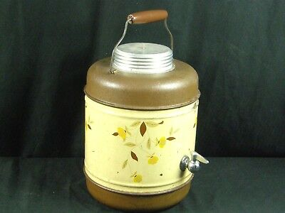 Vintage JEWEL TEA Autumn Leaf Picnic Camping Thermos