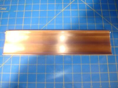Vintage Heavy Thick 100% Copper Door Mail Plate With Copper Screws Excellent