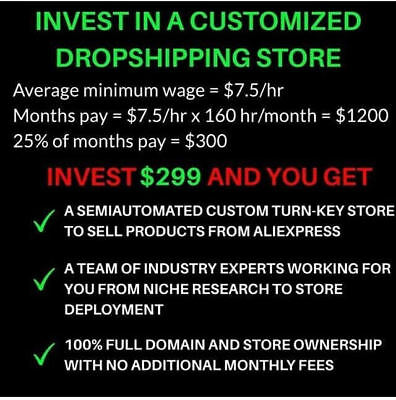Own Your Own Dropshipping Store 100% AUTOMATED! EARN MONTHLY!