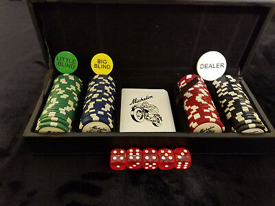 Rare Michelin Motorcycle Tires Collectable Poker Set
