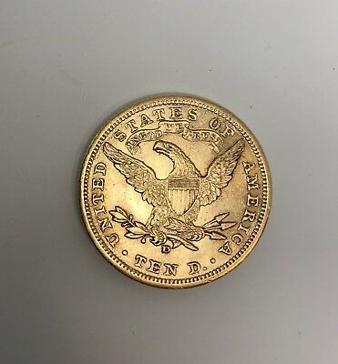 1906-D ~ $10 Gold American Liberty Head Eagle Coin ~ ABOUT UNCIRCULATED RARE AU