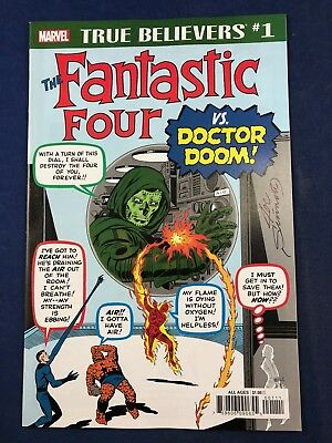 Fantastic Four #5 Marvel Comics True Believers #1 Variant Signed Joe Sinnott