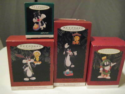 Hallmark Ornament Tweety Sylvester Marvin the Martian Looney Tunes