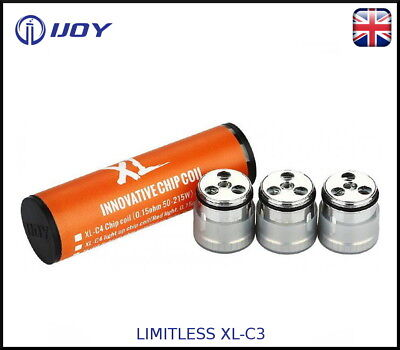 100% Authentic IJOY Limitless  XL-C3  Chip Coils (0.3ohm 40-80W) - Pack of 3