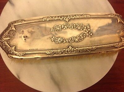 Antique/Vintage Sterling Silver Floral Design Lint Brush