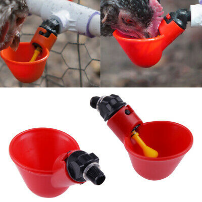 5/10pcs Pet Drinking Chicken Pigeon Bird Poultry Fowl Automatic Water Cup Feeder
