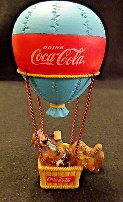 "Coca-Cola Clown Emmett Kelly Hot Air Balloon Collectible 7"" Figurine Numbered"
