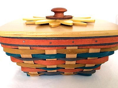2016 SUNFLOWER Collector Club Basket Lid & Protector Longaberger NEW