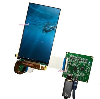 """HDMI To MIPI Controller Board Kit + 5.5"""" LS055R1SX04 1440x2560 IPS LCD LED Panel"""