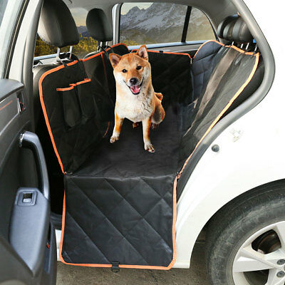Pet Waterproof Pet Cat Dog Car Back Seat Cover Hammock Protector Mat Black