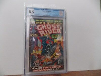 Marvel Spotlight 5 CGC 8.5 1st GHOST RIDER APP white pages /1972 Bronze Age Key