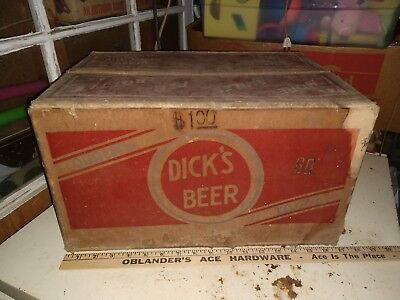 Dicks Beer dick Bros Quincy Il Illinois returnable beer bottle case box old used