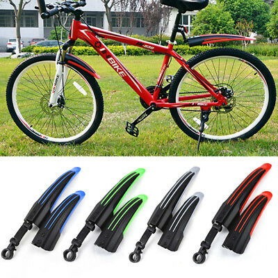 Bicycle Bike Cycling Front Rear Mud Guards Mudguard Fenders Set Fr Mountain Road