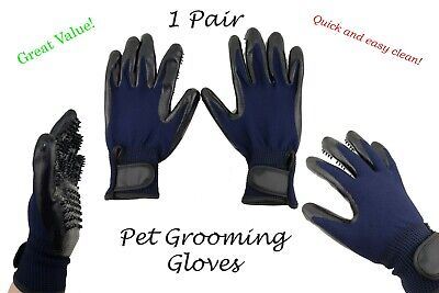 Pet Grooming Gloves 1 Pair Ninja Brush Size Medium Hair Removal Cats Dogs, etc.
