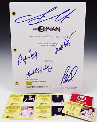 """""""CONAN: The BARBARIAN"""" (2011) Cast SIGNED """"REWRITE"""" full-script from 2009"""