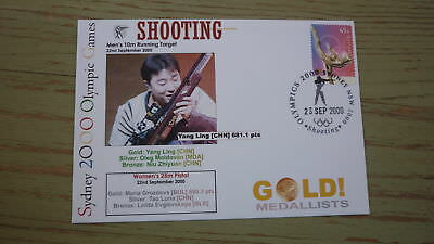 2000 Olympic Games Gold Medal Win Cover, China Shooting Event Gold, Yang Ling