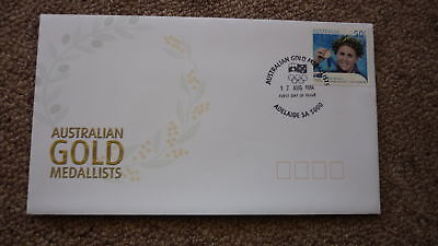 2004 Australian Athens Olympic Gold Medal Fdc, Adelaide, Petria Thomas Swimming