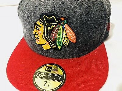 7e3e8e6d3 ... germany new era chicago blackhawks gray and red 59fifty fitted hat cap  u2014 size 7 1