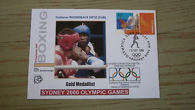 2000 Olympic Games Gold Medal Win Cover, Boxing Event Gold, Bantamweight