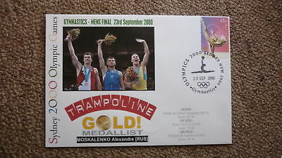 Alexandre Moskalenko Russia Tramopline 2000 Olympic Games Gold Medal Win Cover