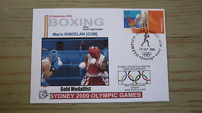 2000 Olympic Games Gold Medal Win Cover, Boxing Event Gold, Lightweight