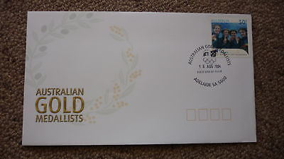 2004 AUSTRALIAN ATHENS OLYMPIC GOLD MEDAL FDC, ADELAIDE, WOMENS 4x100 SWIMMING