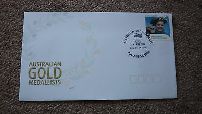 2004 Australian Athens Olympic Gold Medal Fdc, Adelaide, Chantell Newbery Diving