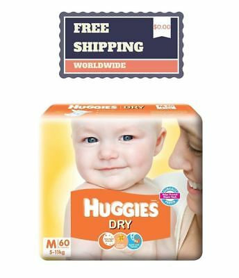 Huggies Dry Diapers Disposable Size NB S M L XL for Soft Skin Baby Value Pack