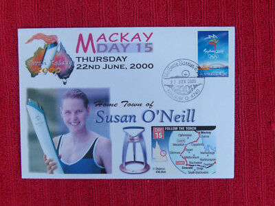 Souvenir Sydney Olympics Torch Relay Cover - Day 15, Mackay, Susie O'neill
