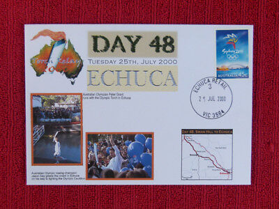 Souvenir Sydney Olympics Torch Relay Cover - Day 48, Echuca