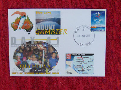 Souvenir Sydney Olympics Torch Relay Cover - Day 41, Mount Gambier