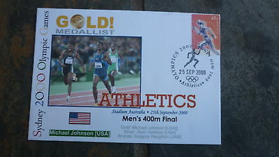 2000 Michael Johnson Usa Olympic Gold Medal Win Souvenir Cover