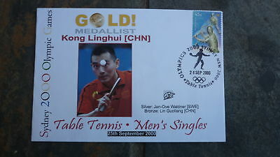 2000 China Table Tennis Olympic Gold Medal Win Souvenir Cover