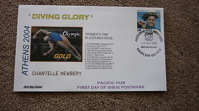 2004 Australian Olympic Gold Medal Win Fdc, Athens Chantelle Newbery Diving