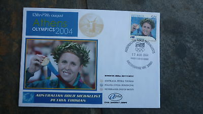 2004 Petria Thomas Australian Olympic Gold Medal Win Stamp Alpha Fdc