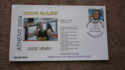 2004 Australian Olympic Gold Medal Win Fdc, Athens Jodie Henry 100M Swimming