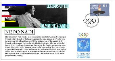 Olympic Games Legends Cover, Nedo Nadi Fecing
