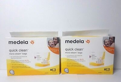 Medela Quick Clean Micro Steam Bags #87024 10-count BPA-Free (Two 5-Pack Boxes)